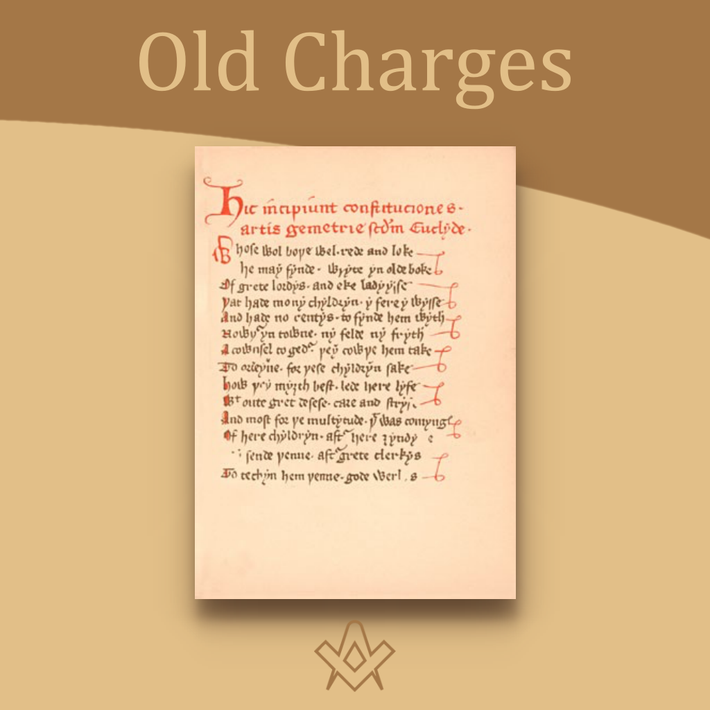 The Old Charges Are you interested in the 'musty old documents of the past'?