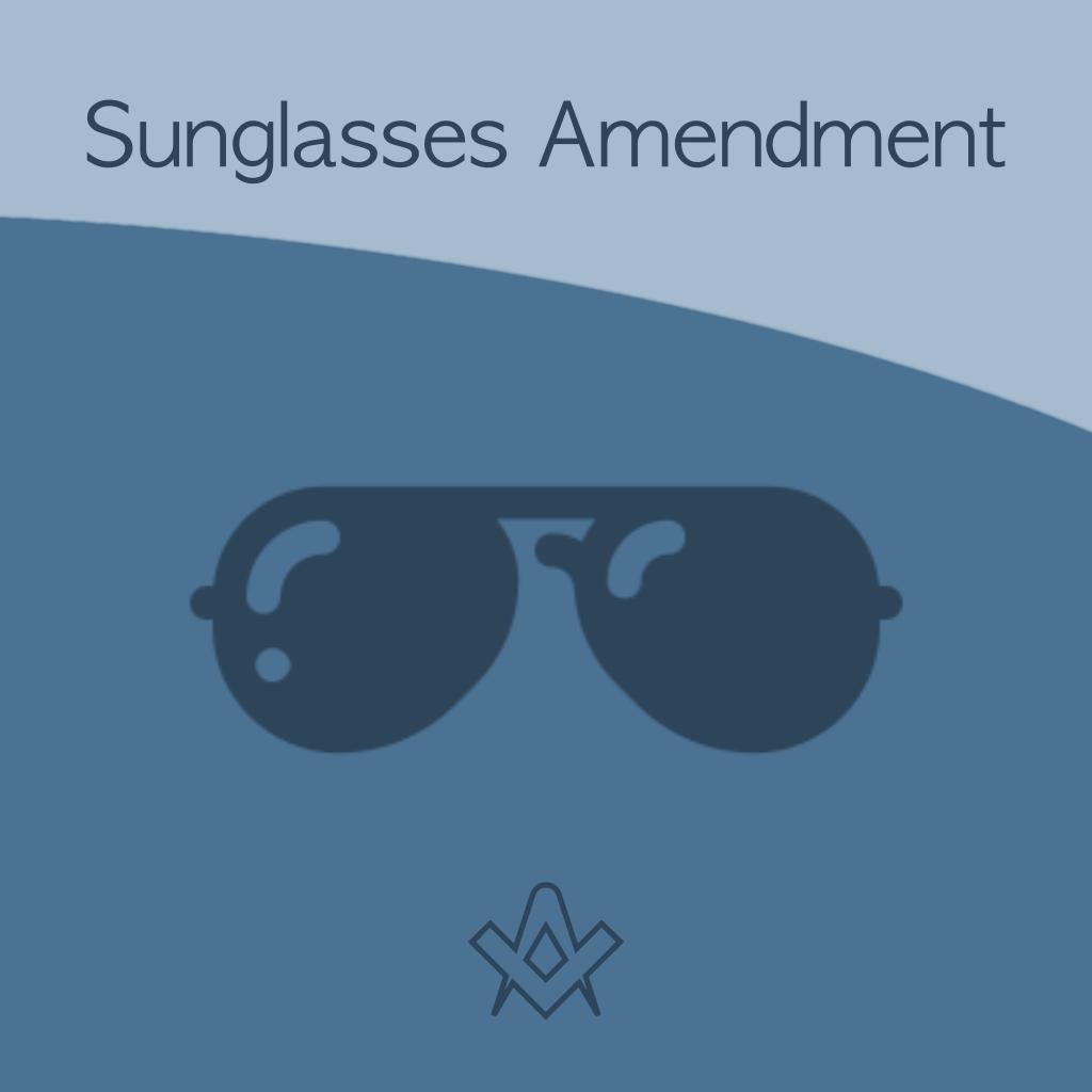 Sunglasses Ritual Amendment Are the sunglasses a fix?