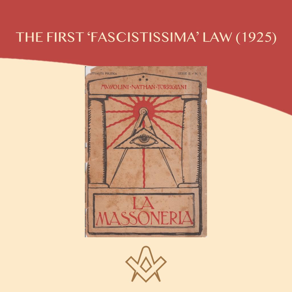 Freemasonry and Fascist Regime Links the fascist regime with the Masonic Associations.