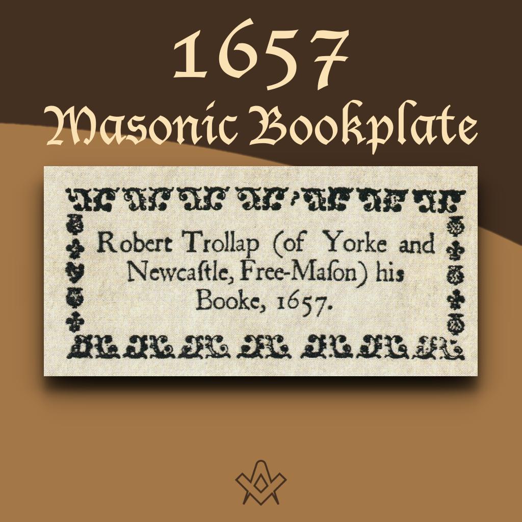A 1657 Masonic? Bookplate Masonic bookplates the 'Brethren's spiritual coats of arms