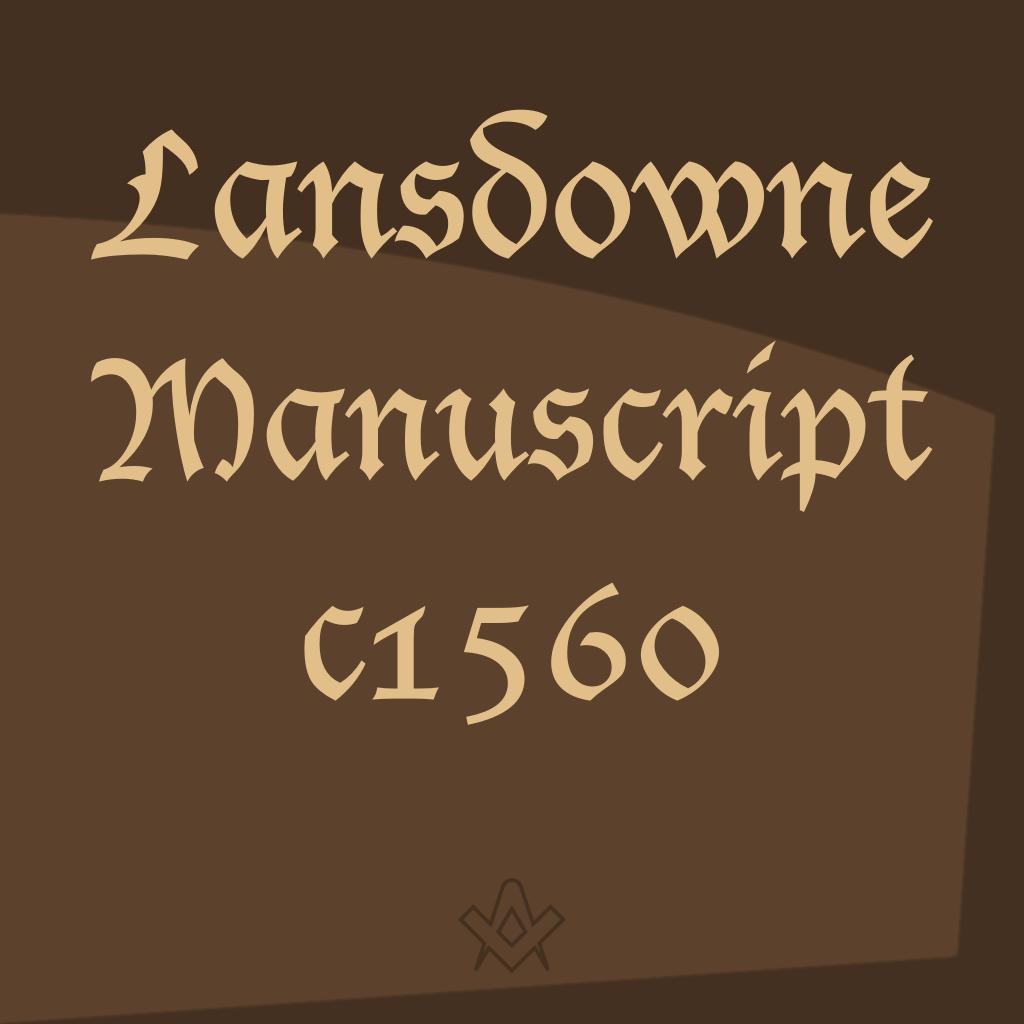 Lansdowne MS c1560